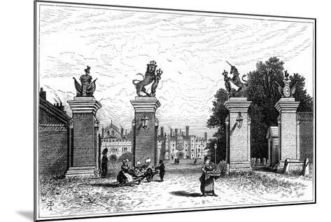 Entrance to Hampton Court Palace, 1880-Robert Taylor Pritchett-Mounted Giclee Print