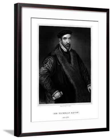 Sir Nicholas Bacon, English Politician-R Cooper-Framed Art Print