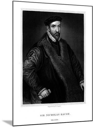 Sir Nicholas Bacon, English Politician-R Cooper-Mounted Giclee Print