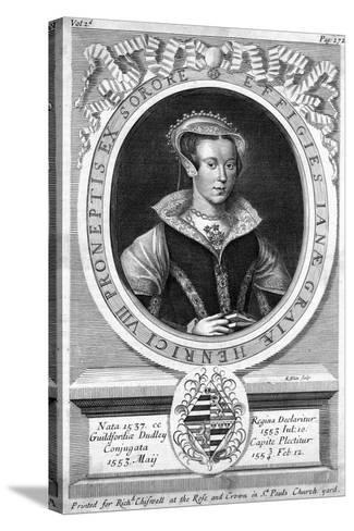 Lady Jane Grey, (C1537-155)-R White-Stretched Canvas Print