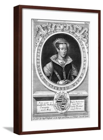 Lady Jane Grey, (C1537-155)-R White-Framed Art Print