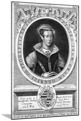 Lady Jane Grey, (C1537-155)-R White-Mounted Giclee Print