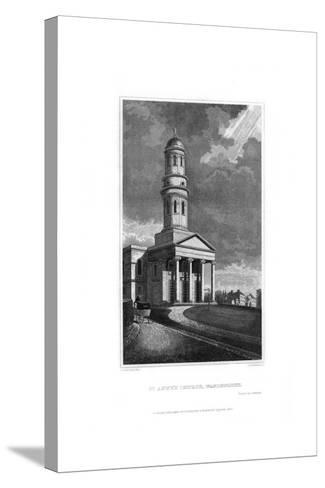 St Anne's Church, Wandsworth, London, 1830-R Winkles-Stretched Canvas Print