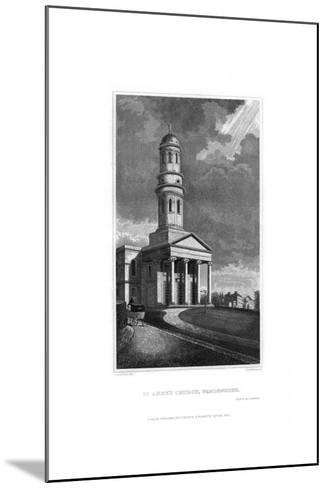 St Anne's Church, Wandsworth, London, 1830-R Winkles-Mounted Giclee Print