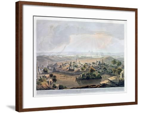 The Pyramids at Cairo, 1809- Rawle-Framed Art Print