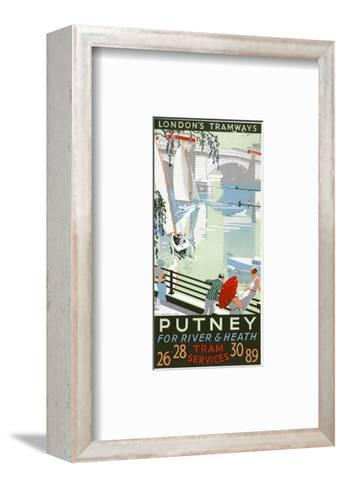 Putney, for River and Heath, London County Council (LC) Tramways Poster, 1932-RF Fordred-Framed Art Print