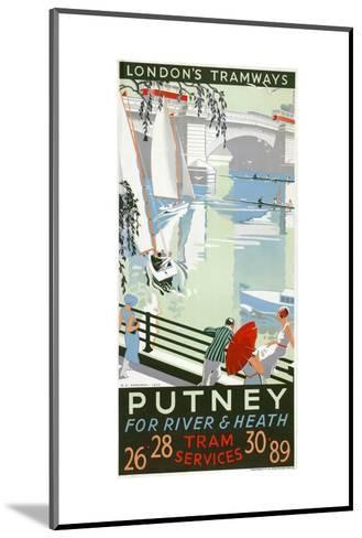 Putney, for River and Heath, London County Council (LC) Tramways Poster, 1932-RF Fordred-Mounted Giclee Print