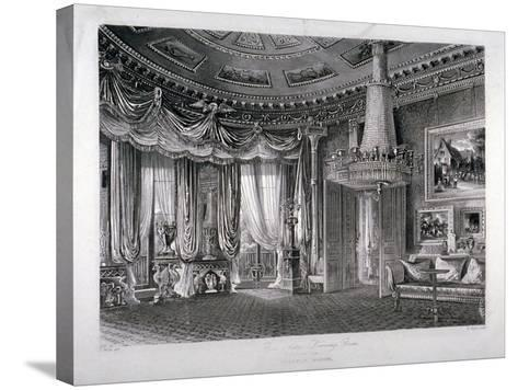 Interior View of the Rose Satin Drawing Room in Carlton House, Westminster, London, 1818-RG Reeve-Stretched Canvas Print