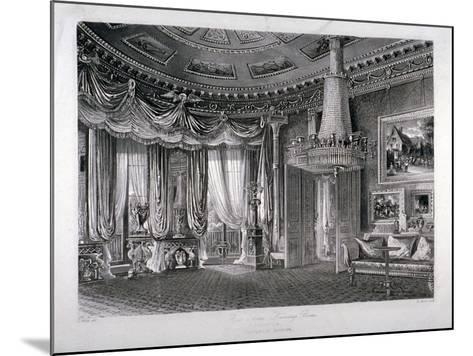 Interior View of the Rose Satin Drawing Room in Carlton House, Westminster, London, 1818-RG Reeve-Mounted Giclee Print