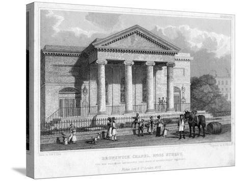 Brunswick Chapel, Moss Street, Liverpool, 1829-R Winkles-Stretched Canvas Print