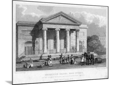 Brunswick Chapel, Moss Street, Liverpool, 1829-R Winkles-Mounted Giclee Print