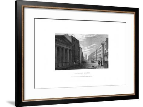 Stamford Street, London, 1830-RL Wright-Framed Art Print