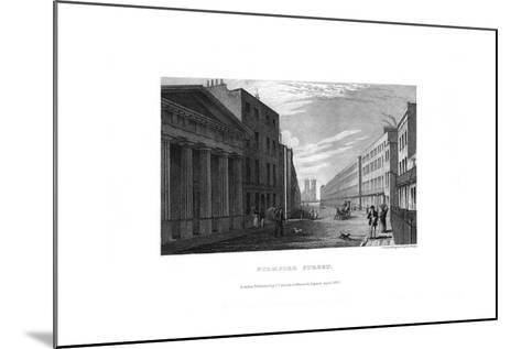 Stamford Street, London, 1830-RL Wright-Mounted Giclee Print
