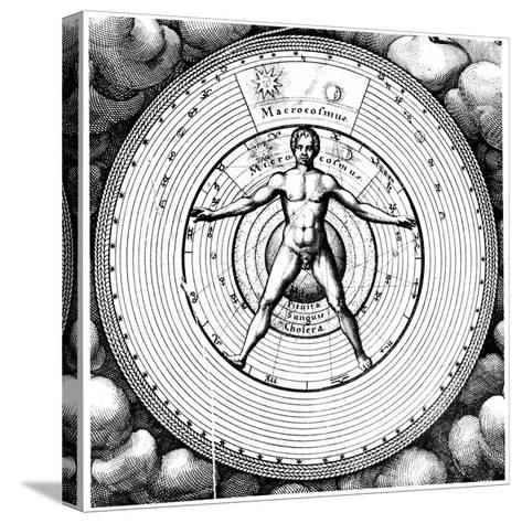Diagram Showing Man's Position in the Universe, 1617-19-Robert Fludd-Stretched Canvas Print