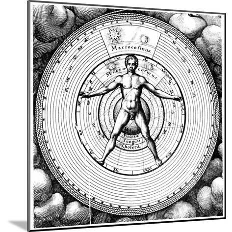 Diagram Showing Man's Position in the Universe, 1617-19-Robert Fludd-Mounted Giclee Print