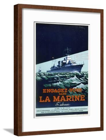 French Navy Recruitment Poster, C1930-1945-Roger Levasseur-Framed Art Print