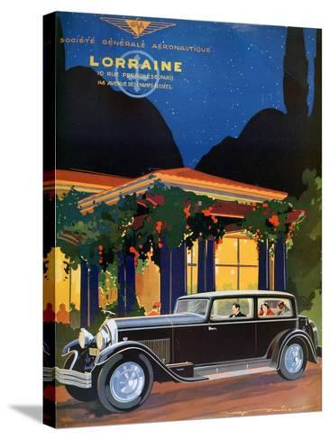 Poster, Lorraine, Societe Generale Aeronautique, 1928-Roger Soubier-Stretched Canvas Print