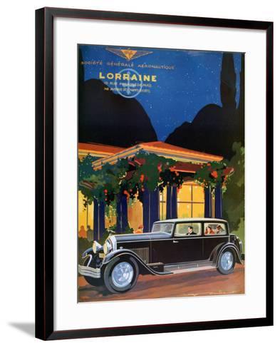 Poster, Lorraine, Societe Generale Aeronautique, 1928-Roger Soubier-Framed Art Print