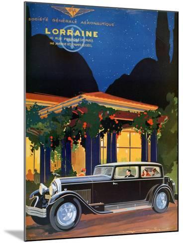 Poster, Lorraine, Societe Generale Aeronautique, 1928-Roger Soubier-Mounted Giclee Print