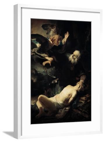 Abraham Sacrificing Isaac, 1635-Rembrandt van Rijn-Framed Art Print