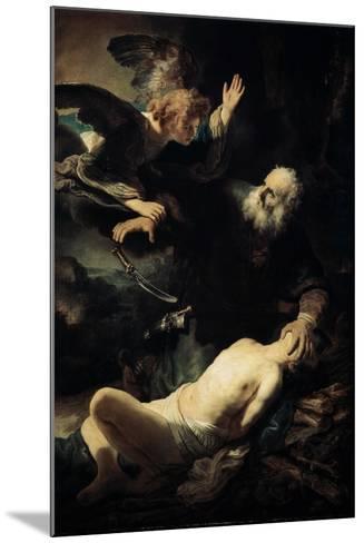 Abraham Sacrificing Isaac, 1635-Rembrandt van Rijn-Mounted Giclee Print