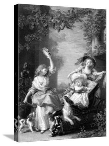The Royal Princesses, Children of King George III, 19th Century-Robert Graves-Stretched Canvas Print