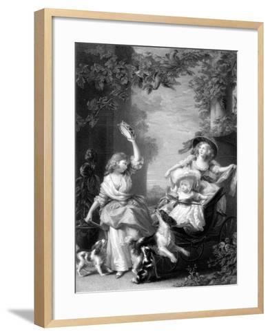 The Royal Princesses, Children of King George III, 19th Century-Robert Graves-Framed Art Print