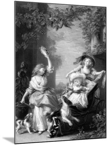 The Royal Princesses, Children of King George III, 19th Century-Robert Graves-Mounted Giclee Print