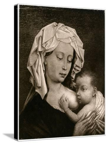 Madonna and Child-Rogier van der Weyden-Stretched Canvas Print