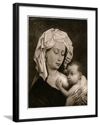 Madonna and Child-Rogier van der Weyden-Framed Art Print