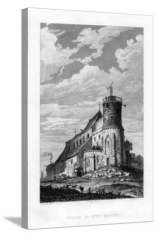 Eglise De Mont Martre, Paris, France, 1829-PJ Havell-Stretched Canvas Print