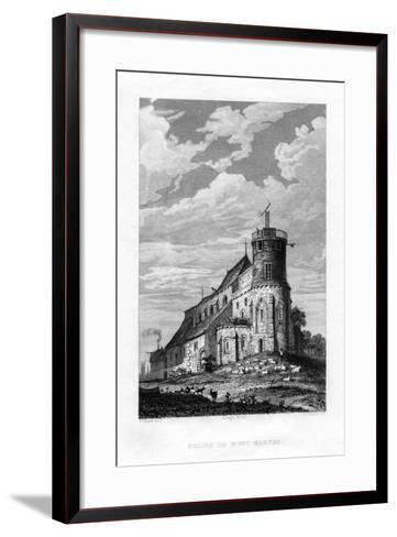 Eglise De Mont Martre, Paris, France, 1829-PJ Havell-Framed Art Print