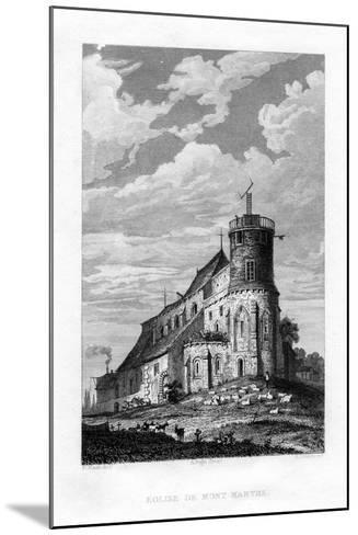 Eglise De Mont Martre, Paris, France, 1829-PJ Havell-Mounted Giclee Print