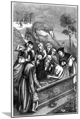 The Entombment, C15th Century-Plon Freres-Mounted Giclee Print