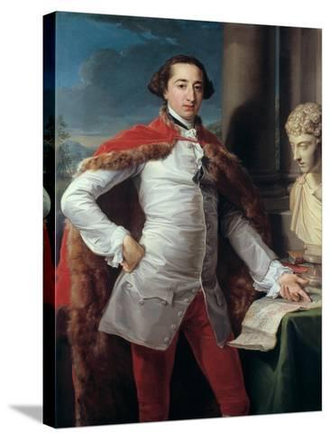 Portrait of Richard Milles-Pompeo Batoni-Stretched Canvas Print