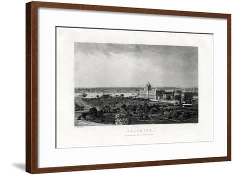 Calcutta, Capital of the Indian State of West Bengal, India, 19th Century-R Dawson-Framed Art Print