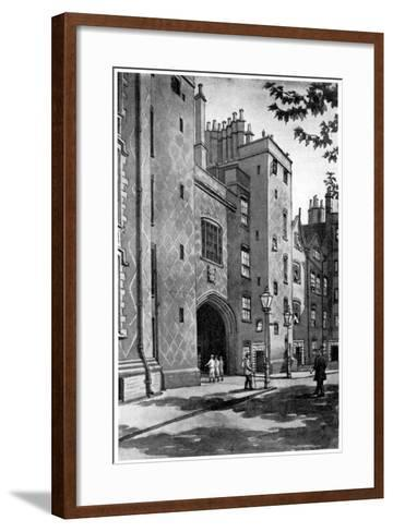 Old Gateway to Lincoln's Inn, London, 1933-RA Wilson-Framed Art Print