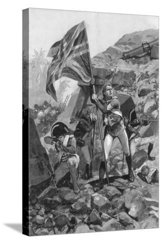 Brave Conduct of Sergeant Graham, Battle of Seringapatam, 1894-Richard Caton Woodville II-Stretched Canvas Print