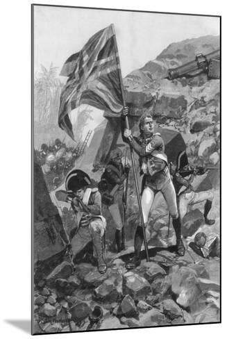 Brave Conduct of Sergeant Graham, Battle of Seringapatam, 1894-Richard Caton Woodville II-Mounted Giclee Print