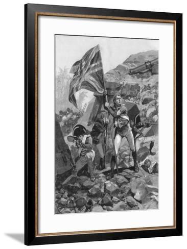 Brave Conduct of Sergeant Graham, Battle of Seringapatam, 1894-Richard Caton Woodville II-Framed Art Print