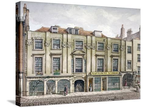 Shaftesbury House, Aldersgate Street, London, 1819-Robert Blemmell Schnebbelie-Stretched Canvas Print