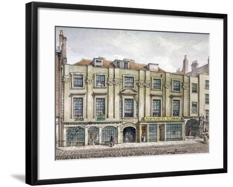 Shaftesbury House, Aldersgate Street, London, 1819-Robert Blemmell Schnebbelie-Framed Art Print