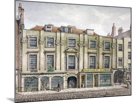 Shaftesbury House, Aldersgate Street, London, 1819-Robert Blemmell Schnebbelie-Mounted Giclee Print