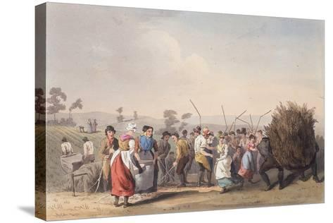 Rape Threshing, 1st November 1813-Robert Havell the Elder-Stretched Canvas Print