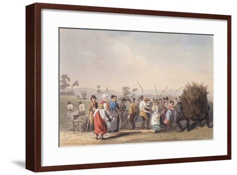 Rape Threshing, 1st November 1813-Robert Havell the Elder-Framed Art Print
