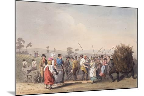 Rape Threshing, 1st November 1813-Robert Havell the Elder-Mounted Giclee Print