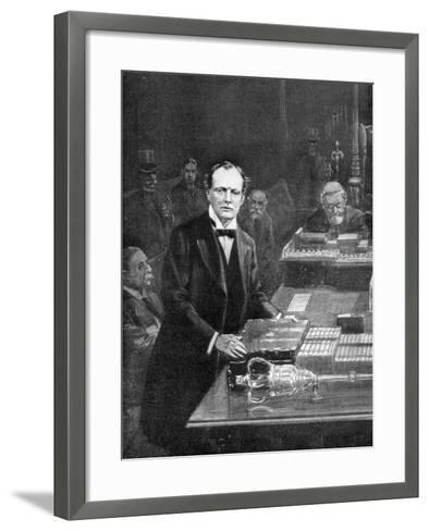 7th May, the Meeting of the House of Commons, Westminster, London, 1910-Ralph Cleaver-Framed Art Print