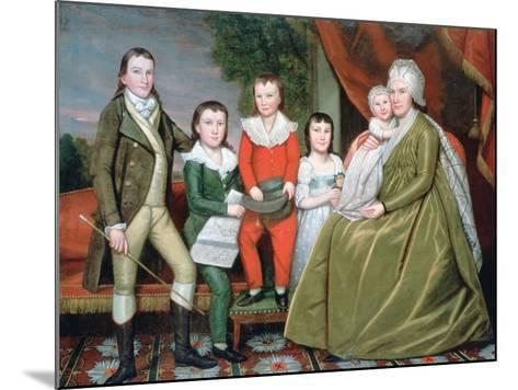 Mrs Noah Smith and Her Children, 1798-Ralph Earl-Mounted Giclee Print