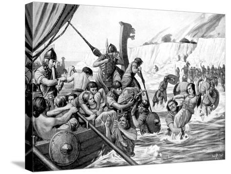 Saxon Raiders-Richard Caton Woodville II-Stretched Canvas Print