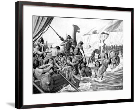 Saxon Raiders-Richard Caton Woodville II-Framed Art Print
